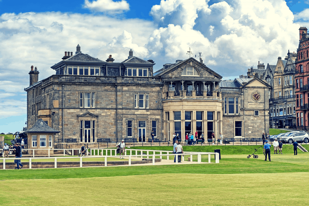 Golf Course and Clubhouse of St Andrews