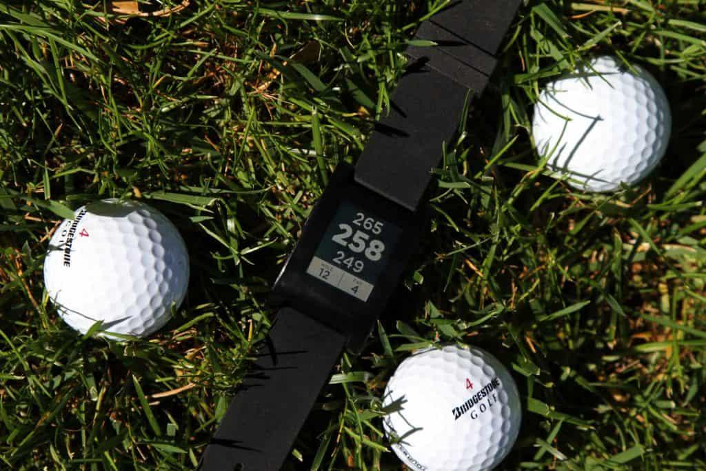 Golf GPS watch in grass