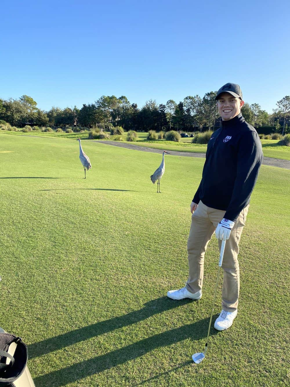 Brandon Standing on Golf Course