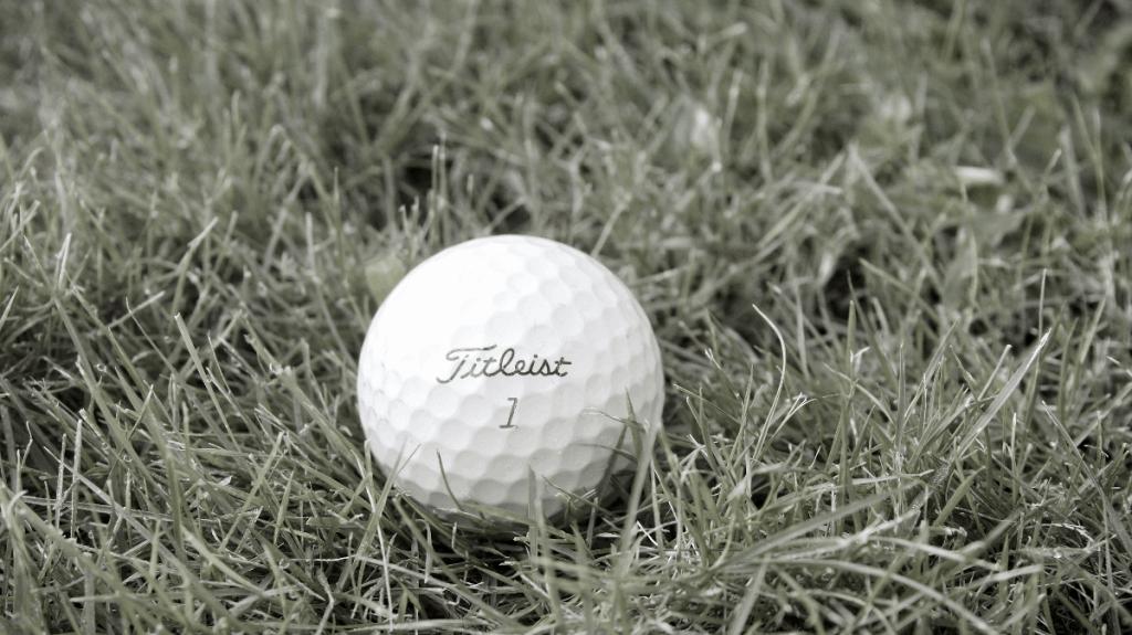 Pro V1x golf ball in grass