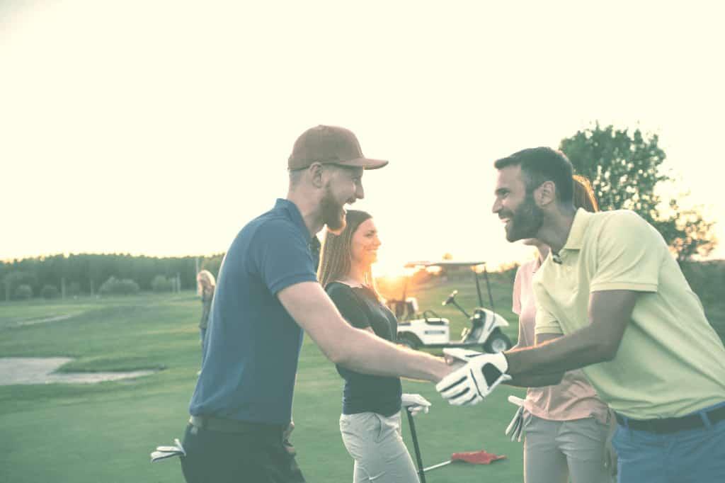 Golfer Shaking Hands after a Round