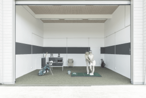 Golf Practice with Alignment Drills