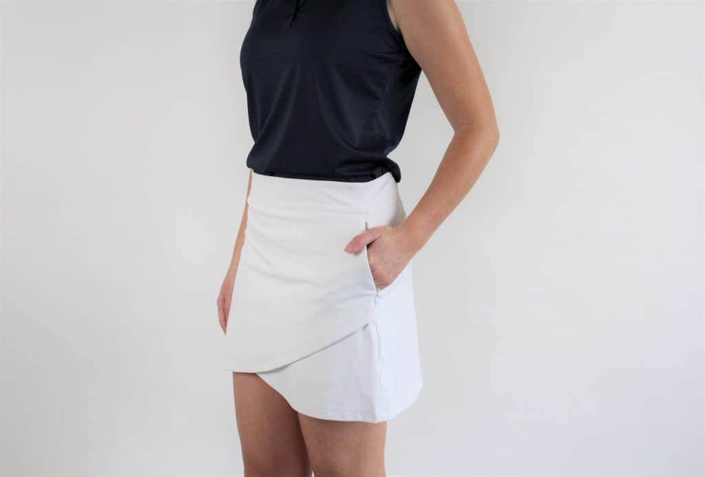 Nevis Golf Co. White Newbury Golf Skirt